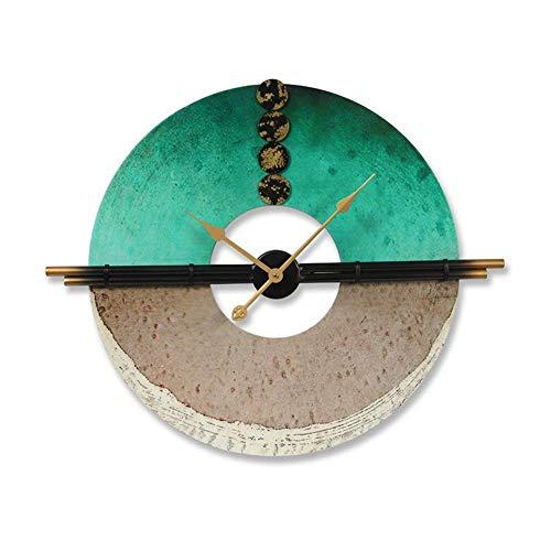 Reloj de Pared 75 * 63 * 4cm Extravagante Personalidad Luz Vida Sencilla habitación la decoración del hogar del Reloj del Reloj de Manera Creativa nórdica Reloj de Pared de Silencio