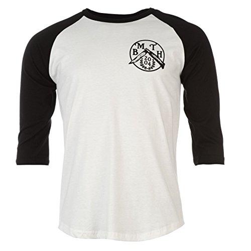 Bring Me The Horizon Flick Messer T-Shirt Herren wei?/schwarz Musik Top Tee T...