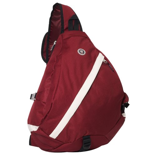 Everest Luggage Sporty Sling Bag, Burgundy/Beige, Burgundy/Beige, One Size