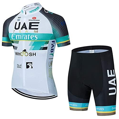 Cycling Jersey Mens Men's Cycling Bib Shorts Men's Cycling Suits Classic Cycling Jersey Fit with 9D Gel Padded (Green-03,M)