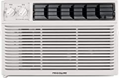 8,000 BTU mini-compact air conditioner for window-mounted installation uses standard 115V electrical outlet Quickly cools a room up to 350 sq. ft. with dehumidification up to 2. 3 pints per hour Mechanical rotary controls with 3 cool speeds and 3 fan...