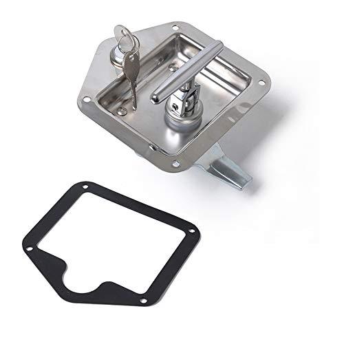 Leoie RVS T Latch Tool Box T Handle Lock voor Pickup RV Work Truck Eén maat ZILVER
