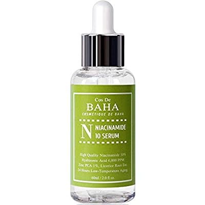 Niacinamide 10% + Zinc 1% Serum for Face - Pore Reducer + Vitamin B3 for Brightening + Uneven Skin Tone Treatment + Diminishes Acne Prone, Korean Skin Care (2OZ)
