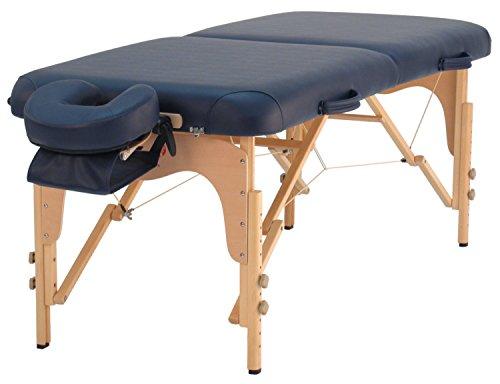 Massageliege TAOline »Balance II« (76 cm), mobil, tragbar, blau, verstellbare Kopfstütze, Armschlaufe & Tragetasche inklusive