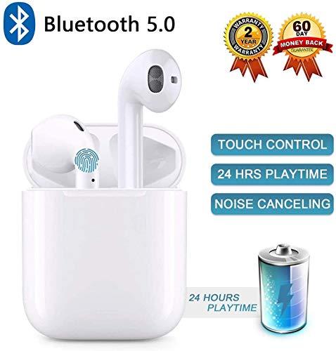 Auricolari Bluetooth 5.0 Auricolari Senza Fili, IPX7 Impermeabile 24H Playtime Vero Wireless Cuffie Sport,riduzione del rumore stereo 3D HD, per cuffie Apple AirPods Pro/Android/iPhone/Samsung/Huawei