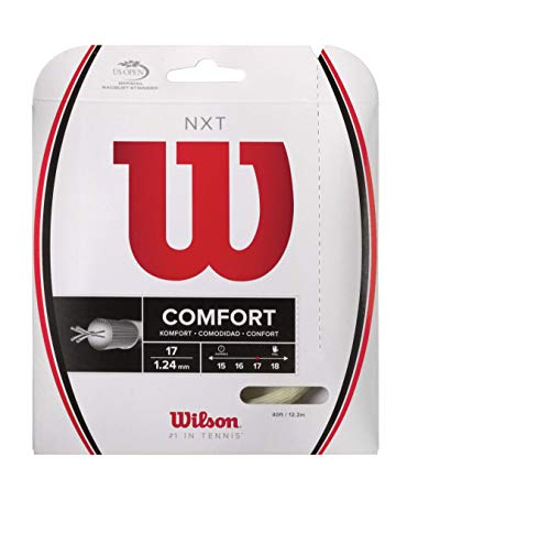 Wilson WRZ942900 Corda da Tennis NXT, 12.2 m, Unisex, Natural, 1.24 mm
