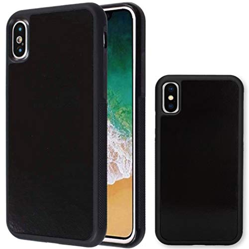 imluckies Anti Gravity Phone Case for iPhone X/iPhone Xs, Goat case Magical Nano Technology can Stick to Glass, Whiteboards, Metal and Smooth Surfaces [Black]