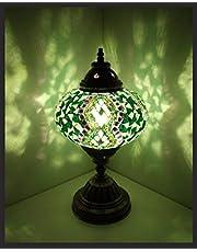 Mozaïeklamp mozaïek - tafellamp L staande lamp oosterse lamp groen samarkand-lichten