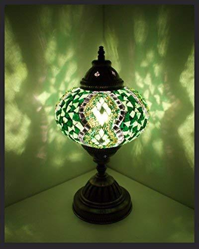 Mosaiklampe Mosaik - Tischlampe L Stehlampe orientalische lampe Grün Samarkand-Lights