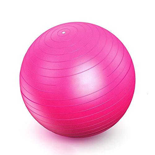EYLIFE Pelota Fitness, Pelota Pilates Embarazadas con Bomba de Aire, Pelota de Pilates 55/65/75 cm con Sistema Antirreventones,Rosado,55cm