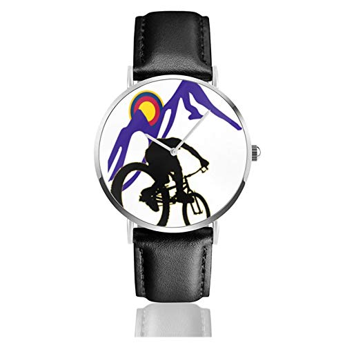 Mountain Bike Clipart Men Wrist Watches Genuine Leather For Gents Teenagers Boys