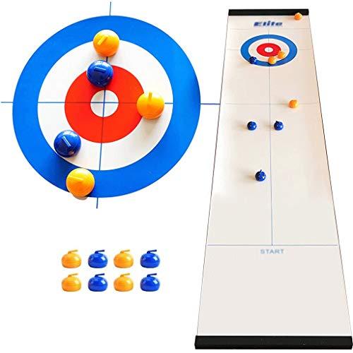 YYL Schnelles Sling Puck Spiel Tisch-Curling-Spiel Tischplatte Kompaktes Brettspiel mit 8 Rollen für Kinder und Erwachsene Home School Reisegeschenk für Kinder Ab 5 Jahren