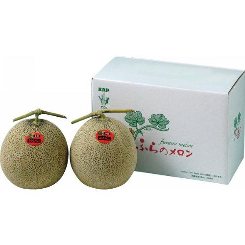 【お中元】 北海道産 富良野赤果肉メロン(2玉) 【6月24日から順次お届け】