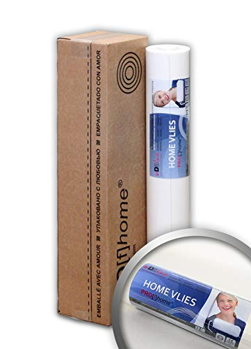 PRO[f]home® - HomeVlies 399-120-AP glatte überstreichbare Vliestapete weiß ohne Struktur Glattvlies Renoviervlies Malervlies Vlies-Tapete