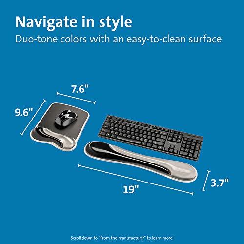 Kensington Duo Gel Handgelenkauflage für Maus und Tastatur (K52500WW), Grau