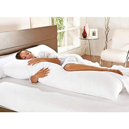 Travesseiro De Corpo Com Fronha Mega 100% Algodão Branco
