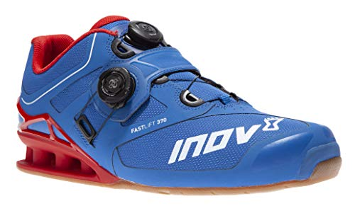 Inov-8 Lifting Mens Fastlift 370 BOA - Powerlifting Shoes for Heavy Weightlifting - Squat Shoe - 4 July Exclusive - Wide Toe Box - Blue/Red 14 M US