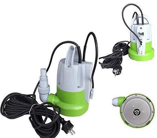 Flachsaugende Pumpe Leistung 250 Watt, Fördermenge: 6000 l/h absaugend bis 1 mm + !! Überhitzungsschutz und Trockenlaufschutz !!