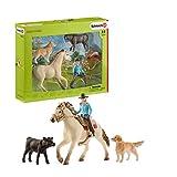 Schleich- Western Riding Set de equitación del Lejano Oeste, Multicolor (42419)