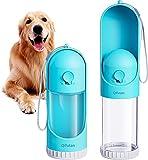 Qifutan Portable Dog Water Bottle for Walking - Leakproof Retractable Puppy Water Dispenser, Lightweight Pet Water Bottle for Outdoor Walking, Hiking, Travel, BPA Free (10 Oz)
