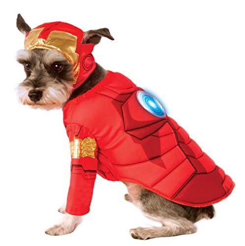 Rubie'S Disfraz de Iron Man de Lujo para Mascotas de los Vengadores, Talla XL