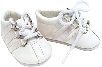 Sophia's White Leather Sneaker, Fits 18 Inch American Girl Dolls