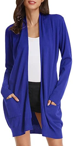 GRACE KARIN Long Cardigans Sweaters for Women Plus Size for Juniors 3XL Royal Blue product image