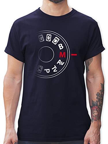 Fotografen - Kamera Einstellrad - L - Navy Blau - Geschenke für Fotografen - L190 - Tshirt Herren und Männer T-Shirts