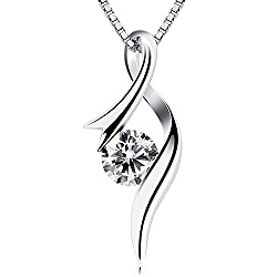 Material: 925 Sterling Silver, 5A Cubic Zirconia. Size: 21mm * 8mm. Length of the Chain: 45cm/18inch. The Sterling Silver Material itself is Relatively Soft, and it Needs to be Handled Gently to Avoid Scratching. When you Wear it, If it is Oxidized, ...
