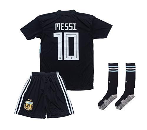 ATB Argentinien 2019/2020#10 Messi Auswärts Kinder Fußball Trikot und Shorts mit Socken Kinder und Jugend Größe