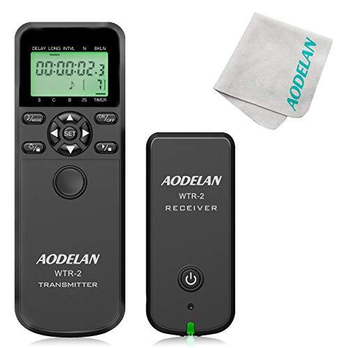Wireless Remote Control Shutter Release Intervalometer with Lens Cloth for Nikon D750,D3200,D3300,D5000,D5300,D5600, D7200,D7500,Z6,Z7,D500,D850,Coolpix P1000. Replaces Nikon MC-36A,MC-DC2.