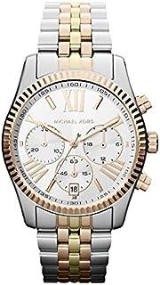 ساعة مايكل كورس لكسنغتون للنساء خلفية شاشة فضية و سوار ستانلس ستيل - MK5735