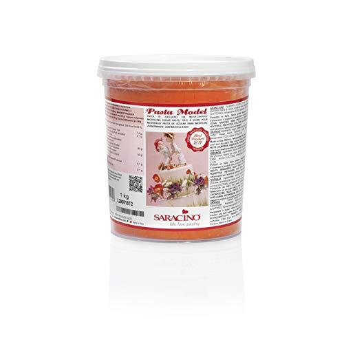 Saracino Pasta Di Zucchero Model Arancione Per Modellaggio Da 1 Kg Senza Glutine Made In Italy