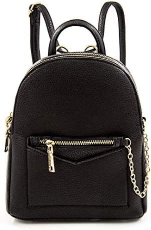 EMPERIA Kayli Faux Leather Mini Fashion 3 Way Carry Backpack Casual Lightweight Rucksack Daypack product image