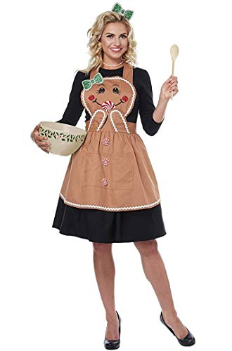 California Costumes Women's Gingerbread Apron - Adult Costume Adult Costume, -Tan, One Size