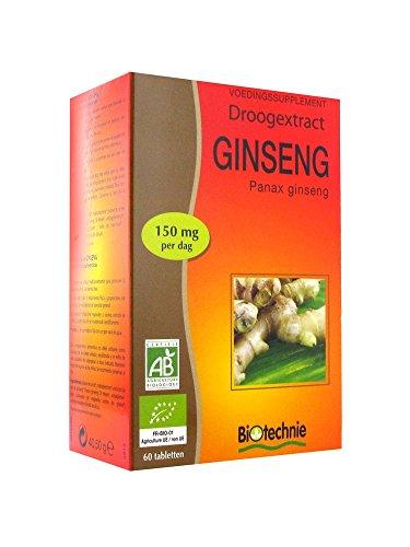 Biotechnie Extrait Sec de Ginseng 60 Comprimés
