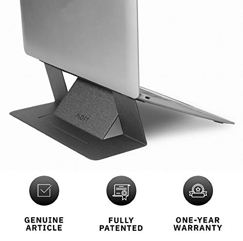"MOFT Laptop Stand, Invisible Lightweight Laptop Computer Stand, Compatible with MacBook, Air, Pro, Tablets and Laptops up to 15.6"", Patented, Starry Grey"