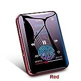 Ahagut MP3 Player Musik-Player mit LCD-Bildschirm Touchscreen MP3 Player mit Mikrofon, FM Radio, Diktiergerät(rot,4G)