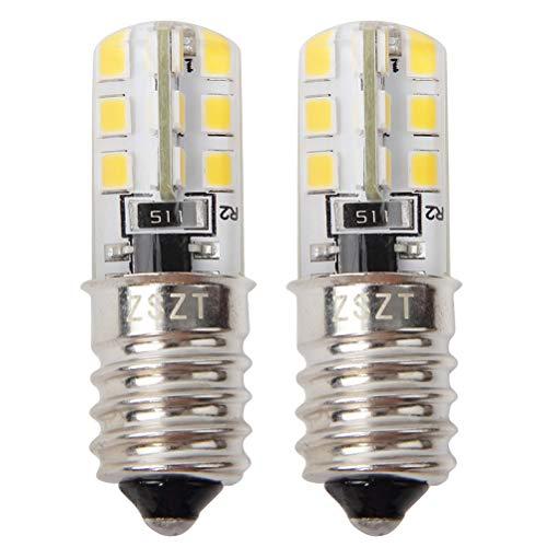 Bombillas de nevera E14 LED 2W (equivalente incandescente de 10-25W) Blanco Cálido 3000K, Diseño impermeable, 2 unidades