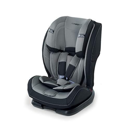 Foppapedretti Re-Klino Seggiolino Auto Gruppo 1/2/3 (9 -36kg), per Bambini da 9 Mesi Fino a 12 Anni, Grey