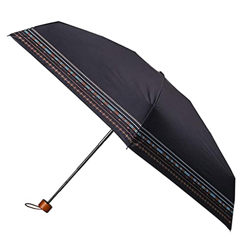 QFUNDAS Anti-UV Paraguas Plegable Mini Ultraligero Protección Solar Paraguas UV Innovación Retro Lluvia Paraguas de Sombra de Doble Uso Reutilizable/A