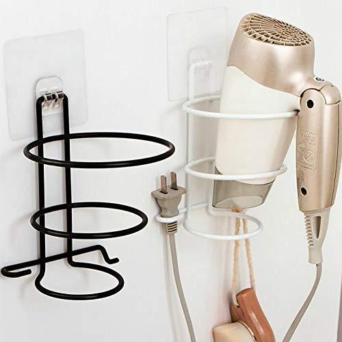 LONG-J 2 pièces Porte Sèche Cheveux, Rangement/Support de Sèche-Cheveux en 304 Acier Inoxydable