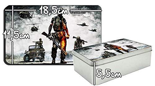 MasTazas Battlefield Bad Company 2 Vietnam Metalldose aus Zinn Metal Tin Box