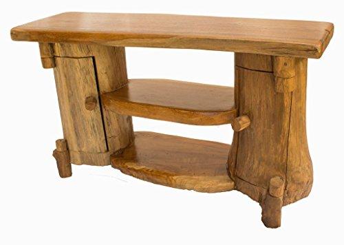 Windalf Handmade Hobbit-stijl houten commode MANI 90 cm teakhouten kastje dressoir gangkast slaapkamer keukenkast uniek