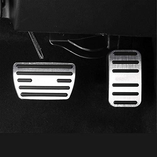 Aleación de Aluminio AT Car Styling Pedal del Acelerador Cubierta del Pedal del Freno Almohadilla Antideslizante, para Honda CRV 2017 2018 2019 2021 Accesorios-Plata