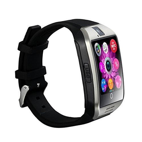 Estock® 2015 Newest Multifunctional Generic Original Sport Watch Q18 with Camera TF/SIM Card Slot Bluetooth Smartwatch Smart Phone and Mp4,Avi Music Player Support Twitter,facebook Push Message Bluetooth for Android and IOS