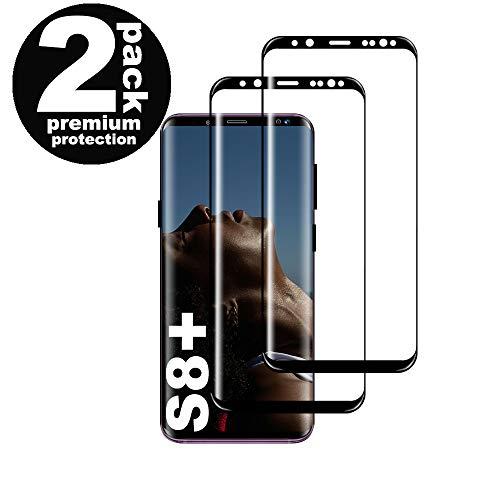 puissant Protecteur d'écran en verre trempé pour Galaxy S8 Plus, [2 Pièces] [Full Coverage] [Anti Rayures]…