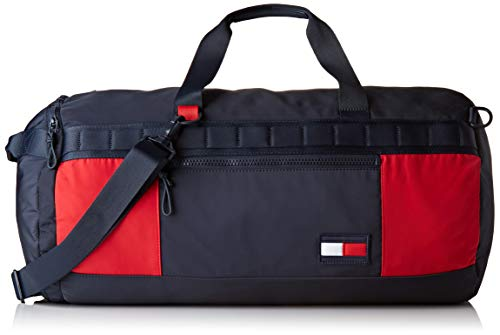 Tommy Hilfiger Herren Tommy Convertible Duffle Schultertasche, Mehrfarbig (Corporate), 31x31x56 Centimeters