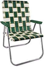Lawn Chair USA Webbing Chair (Magnum, Charleston with Green Arms)