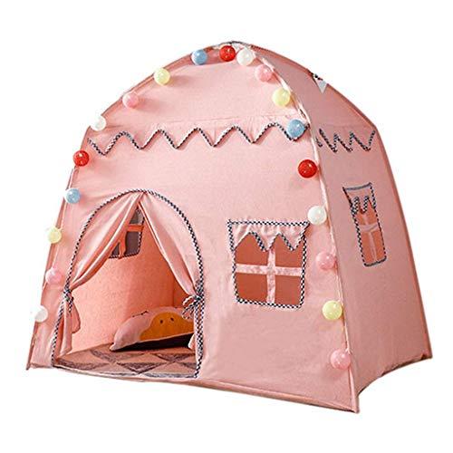 DX Tent voor kinderen, Indoor Game Prinses Kamer Effen Katoen Doek PVC Droom Droom Sterren Ondersteuning Sky Castle Verjaardagscadeau (Kleur: Roze, Maat: # 2)